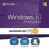 Original MS Windows 10 Professional 64 Bit Deutsch Vollversion | Originaler Lizenzschlüssel inkl. Anleitung von TPFNet® | Versand 7 Tage die Woche per Post und E-Mail in max. 60Min