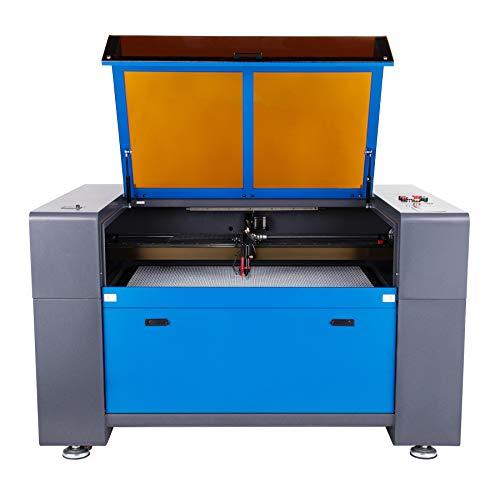 Z ZELUS Macchina per Incisione Laser 100W CO2 Incisore Laser Stampante Taglio Engraver Autofocus e Motorizzato con Porta USB Display LCD RDworks Software (1000X600MM)