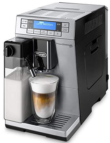 ハイエンドモデルデロンギ(DeLonghi) プリマドンナXS コンパクト全自動コーヒーメーカー 自動カフェラテ・カプチーノ機能 タッチパネル メタリックシルバー&ブラック ETAM36365MB