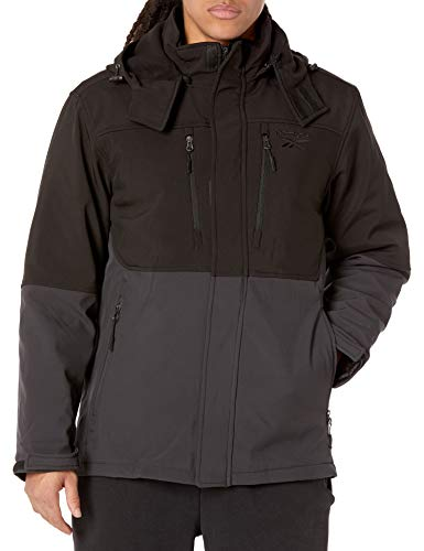 Reebok Men's Soft Woven System Jacket, Black/Charcoal, M