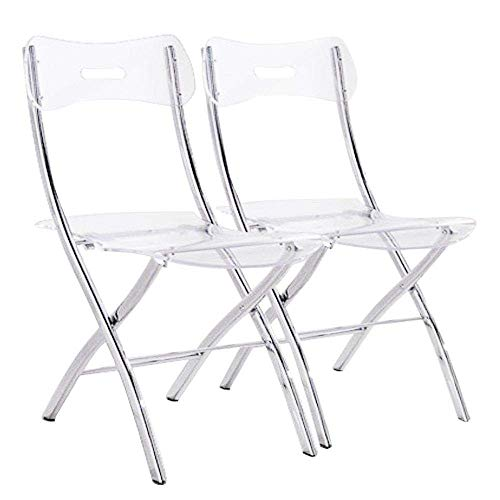 Lot de 2 chaises Pliantes Widow en plexiglas