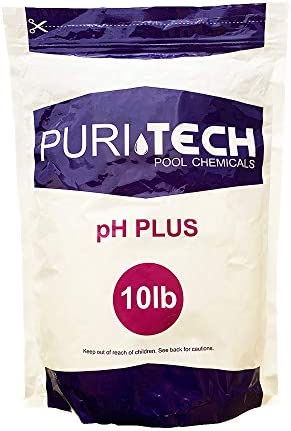 Puri Tech Chemicals pH Plus 10lb Resealable Bag for Swimming Pools Spas pH Increaser Up Balancer product image