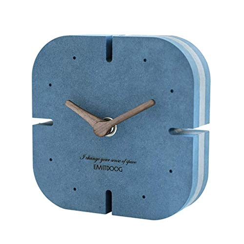 MUMUMI Reloj Despertador, Reloj New Home Desk Mese Habitación Decoración Creativa Mesa Sala de Estar Decoración de Escritorio Nordic Silent Negro Alarma,D