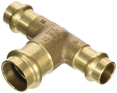 Viega T-Stück Sanpress 2218 RG, SC-Contur 15 x 22 x 15 mm, 298388 - 5 Stück