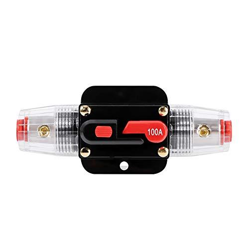 Keenso - Portafusibles de reinicio de circuito para coche, barco, caja de fusibles, impermeable para protección del sistema, 12V-24V 50A 60A 80A 100A