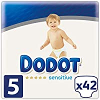 Dodot Sensitive - Pañales Talla 5, 42 Pañales, 11 a 16 kg