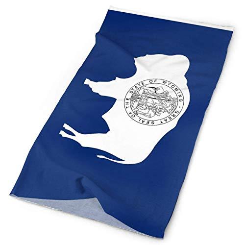 Cache-Col Wyoming Wy State Flags Blanc Femmes Coupe-Vent Warmer Personnalisé Hommes Balaclava Neck Gaiter UV Cadeau Ourdoor Visage Vêtements Durable Multifonctionnel Sport Seamles