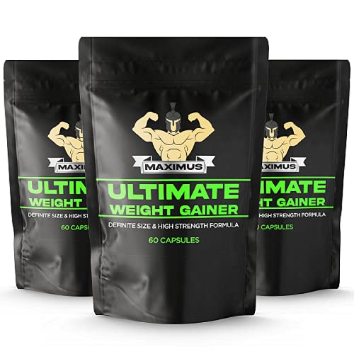 Anabolic Weight Gainer Capsules - Quick Muscle Mass Pills - Build More...