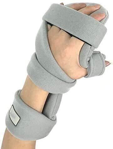 AY Soportes de férula de dedo ajustable, fractura de pulsera Fallas protectoras de fijación Férula de mano transpirable Soporte de muñeca Moderado de estabilización de la muñeca para el túnel carpiano