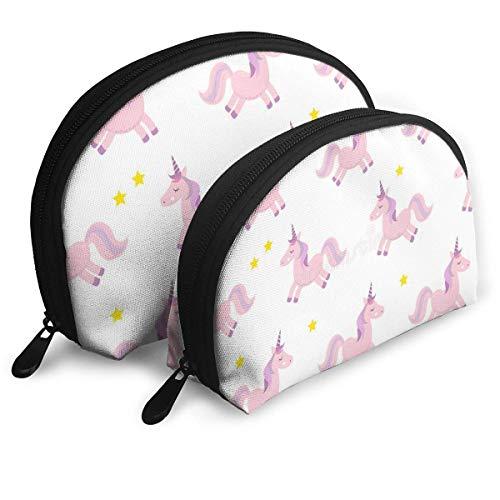 Bolsa de Maquillaje Unicarns Portable Shell Toiletry Organizer para Girlfriend Party 2 Pack