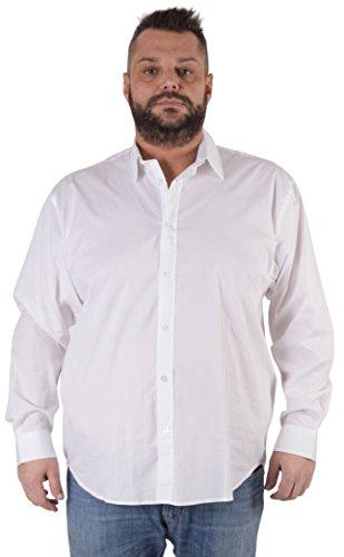 Maxfort Camicia London Taglie Forti Uomo - Bianco, 5XL