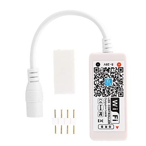 Ymiko Controlador LED WiFi, Tira de luz LED RGB Controlador Inteligente LED inalámbrico Tira de luz LED RGB Aplicación Magic Home, Trabajando con Android 4.3/IOS7.0