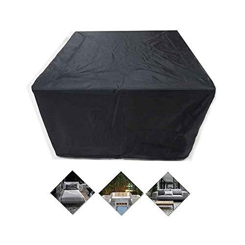 Jardín Funda Muebles A Prueba De Polvo Lona Protectora Protección contra La Nieve Anti-UV Interior Al Aire Libre Conjuntos Mesa Y Silla, Tamaño Personalizado (Color : Negro, Size : 60×60×60cm)