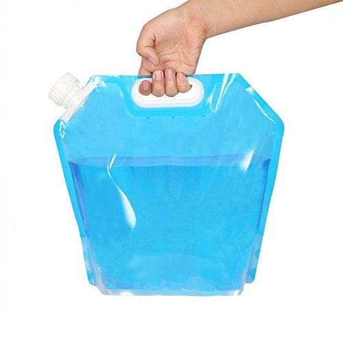 Xiaolanwelc@ Best Selling5L Plastic Folding Portable Collapsible Outdoor Storage Water Bucket Travel Camping Water Tank Free Drink Bottle Bag
