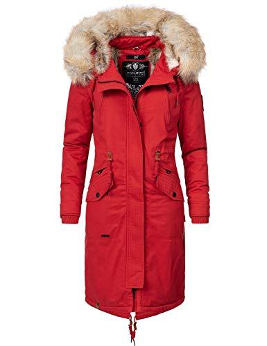 Navahoo Damen Wintermantel Winterparka Kin-Joo Rot Gr. XL