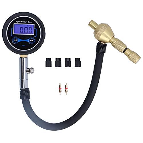 Cloudbox Medidor de presión de neumáticos Medidor de presión de neumáticos de Coche Probador Digital Pantalla LCD Multifuncional Mantenimiento de reparación de automóviles de Alta precisión