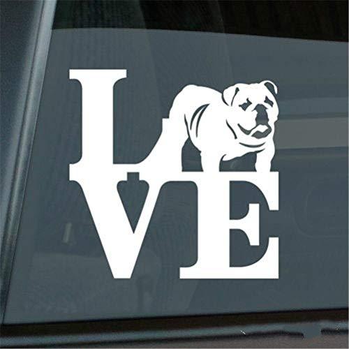Auto Aufkleber Auto Aufkleber Liebe Englisch Bulldogge Aufkleber Die Cut Park Britische Fenster Aufkleber für Autos Aufkleber