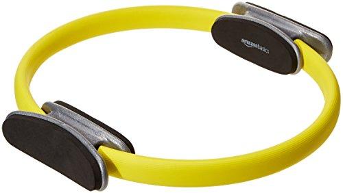 AmazonBasics - Cerchio per pilates, fitness e allenamento con resistenza, 38 cm, Nero, confezione da 2