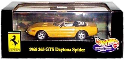 Hot Wheels Collectibles fürari 1968 5 S Daytona Spider (Gelb ConGrünible) Replica w Display Case 1  43 ale