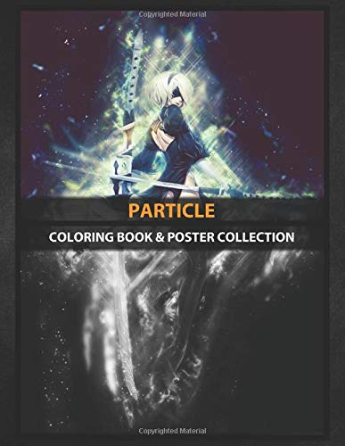Coloring Book & Poster Collection: Particle 2b Ad Pod In Particle Style Anime & Manga