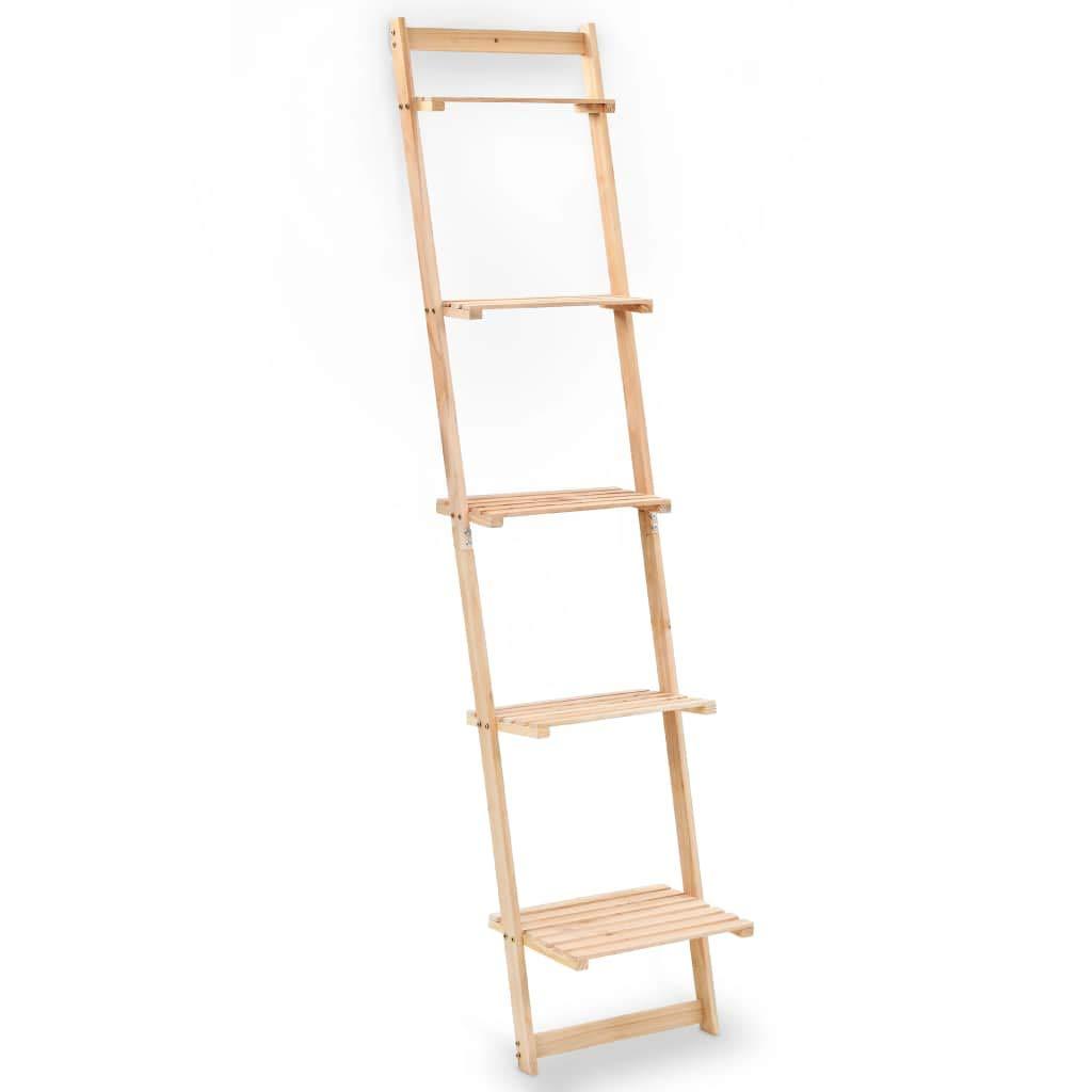 vidaXL Estantería de Pared Escalera Madera de Cedro 41,5x30x176 cm Librería: Amazon.es: Hogar
