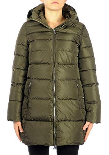 ADD Giacca Hooded Down Coat Giacca Donna Green KAW104S 42