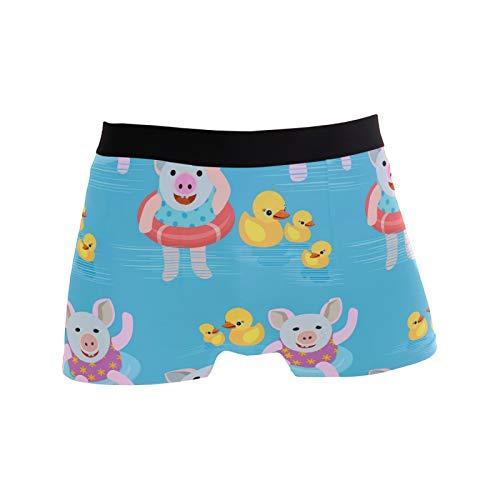 S-XXL Herren Boxer Slips Boxer Unterwäsche Comfort Piggy Swimming