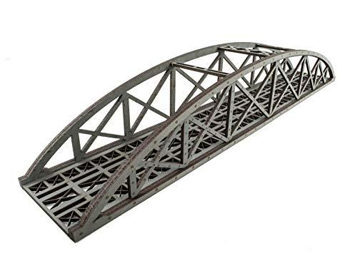 War World Scenics - Puente Tipo Arco Bowstring Gris de vía única 400mm con Detalles - Modelismo Ferroviario OO/HO, Maquetas
