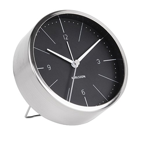 Karlsson Normann Uhr, Tischuhr, Stahl, Schwarz, One Size
