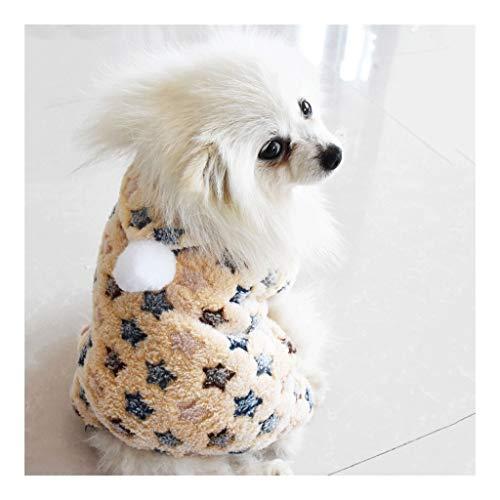 Hond donsjack, Pet Puppy Cat Cute Cotton Warme truien Coat SweaterKleine Mittlere Grosse Haustier Hund Katze Bekleidung Bekleidung Frühling Herbst Winter (Color : C, Size : M)