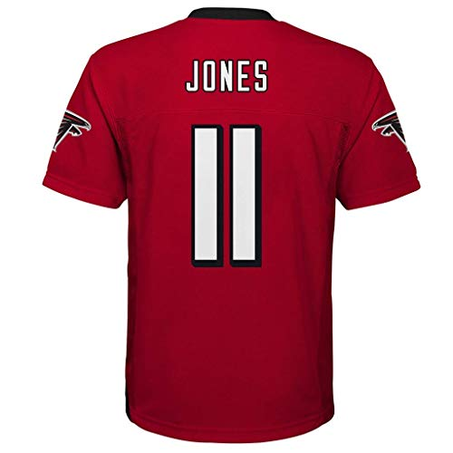 Outerstuff Julio Jones Atlanta Falcons NFL Youth Red Home Mid-Tier Jersey (Large 14-16, Red)