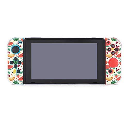 Hülle für Nintendo Switch Früchte Wassermelone Melone Kirsche Fünfteiliges Set Schutzhülle Case Kompatibel mit Nintendo Switch Spielekonsole