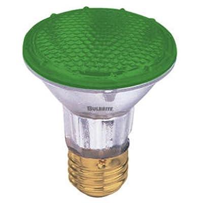 Bulbrite H50PAR20G 120V 50W PAR20 Halogen Light, Green