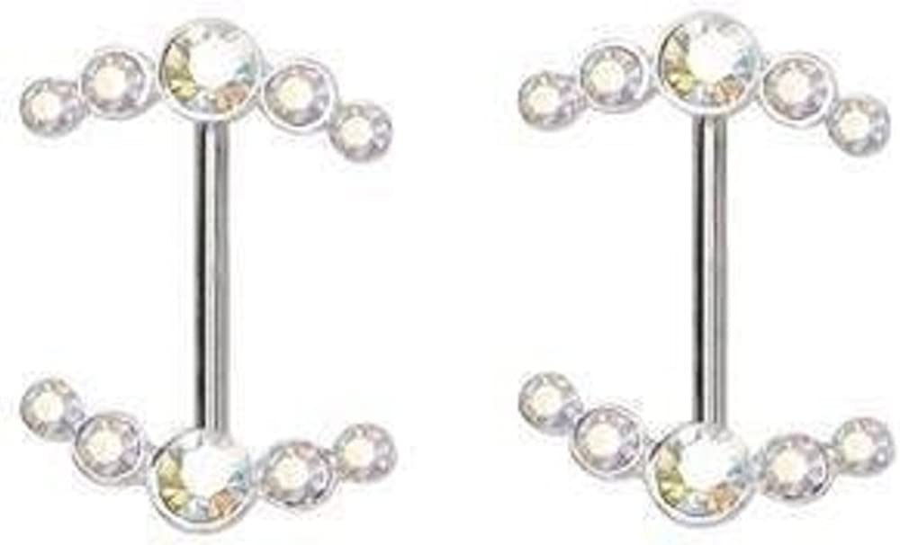 Nipple Ring Double Arrow Bar Body Jewelry Sold As Pair