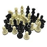 NaJasminum Piezas de ajedrez Medievales/Plástico Completo Chessmen International Word Juego de ajedrez Entretenimiento Blanco y Negro - Blanco Negro