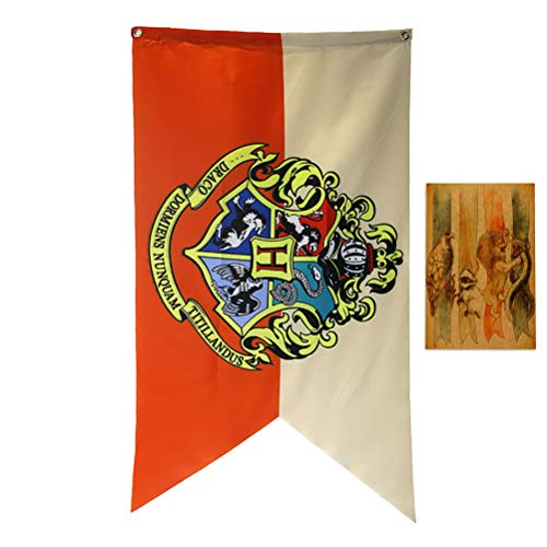 ASFAOK New College Poster Harry Potter Banner, [126X71CM], Flagge Hogwarts für Kinder Geschenke Schlafzimmer-Dekor-Supplies