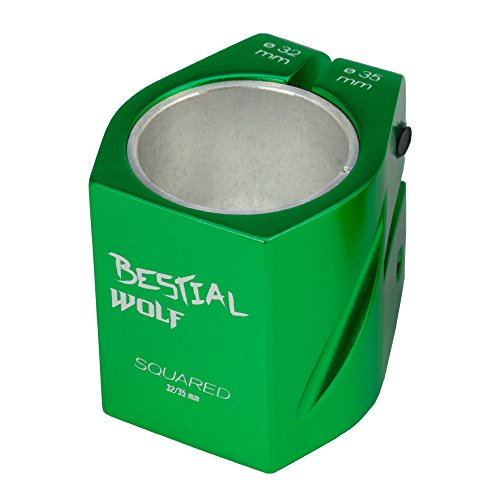 Bestial Wolf Nuevo Clamp 2 Tornillos Squared146, Color Verde, 32-35 mm
