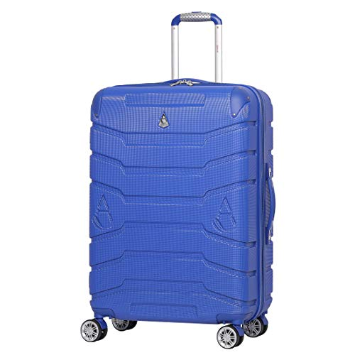 """Aerolite ABS Hard Shell Hold Check in Luggage Suitcase with 4 Wheels (25"""", Midnight Blue)"""