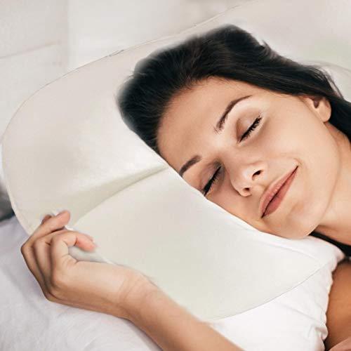 Zarome Almohada para dormir con forma de nube Almohada cervical de espuma viscoelástica Almohada suave con forma de huevo Alivio del dolor Almohadas ortopédicas ergonómicas para dormir Masaje pleasure