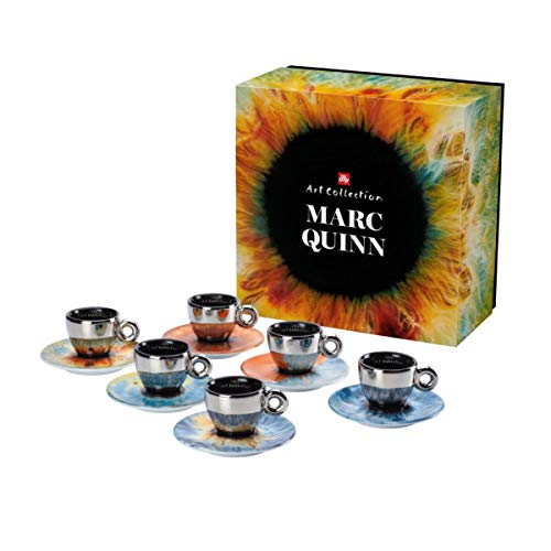 ILLY 6 Espresso-Kaffeetassen Iris Marc Quinn
