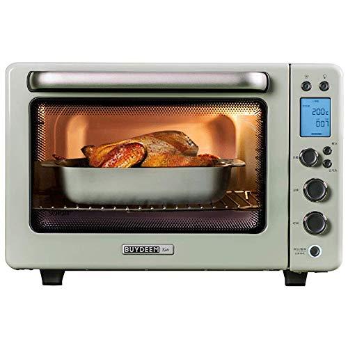 Toaster oven Multifonctionnel Grille-Pain Four Friteuse À Air 31.5L Cuisson Fermentation Décongélation Cuisson Éclairage Amovible 120 Minutes Minuterie 1800W Vert Jaune