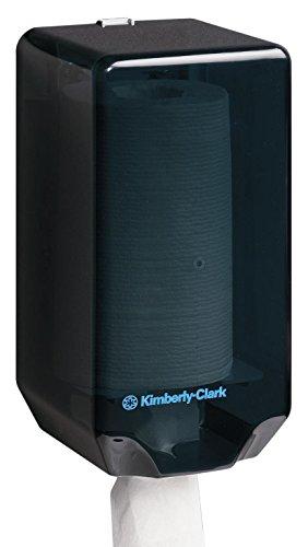 Kimberly-Clark Professional 7905 Wischtuchspender mit Zentralentnahme, 31,5 cm (L) x 17 cm (B) x 17 cm (T), 1 x 1 spender, schwarz