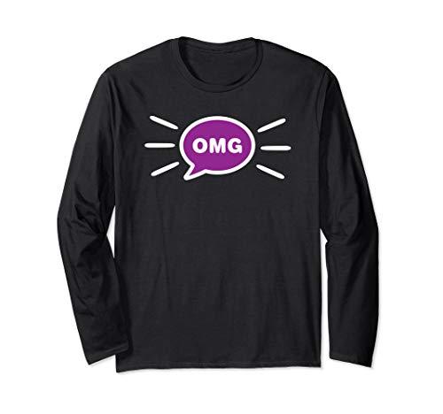 OMG - Chat Bubble Emoji Langarmshirt