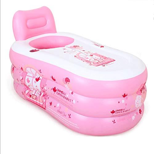 Best Buy! Inflatable Bath - Adult Inflatable Bathtub Single Bath Barrel Home Bath Bucket Folding Thi...
