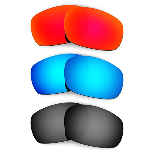HKUCO Mens Replacement Lenses For Oakley Jawbone Red/Blue/Bl