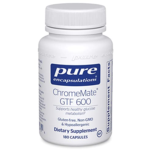 Pure Encapsulations ChromeMate GTF 600 | Supplement for Blood Sugar, Metabolism, and Lean Muscle* | 180 Capsules