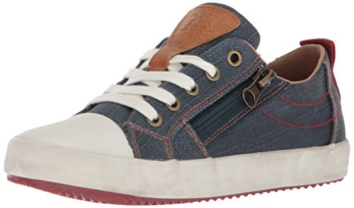 Geox Jungen J Alonisso D Low-top Sneaker, Blau (Blue/Dk Red), 31 EU