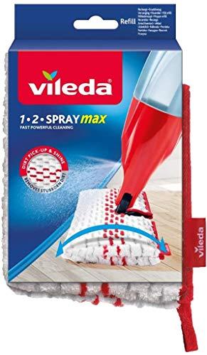 Vileda 1-2 Spray Max - Recambio Mopa, Blanco (152927)