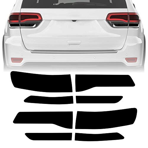 NDRUSH Smoked Taillight Rear Fender Vinyl Tint Film, Precut Overlay, Tail Light Wrap Cover Compatible with 2014-2020 Jeep Grand Cherokee