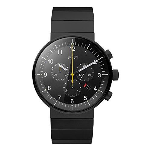 Braun Herren Analog Quarz Uhr mit Edelstahl Armband BN0095BKBKBTG